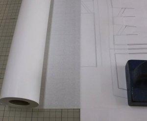画像1: ホワイト用紙#40 薄 91巾 50m