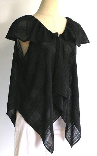 四角の布5枚で作るブラウス
